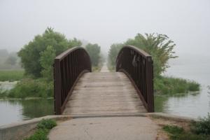 Chalco Bridge in Morning Fog Copyright 2009 by R.O. Robbins