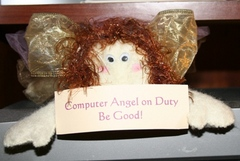 Computer Angel on Duty, Be Good Photo Copyright 2012 by R.A. Robbins