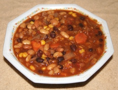 Wouldn't veggie chili be good for lunch? Copyright 2014 by R.A. Robbins