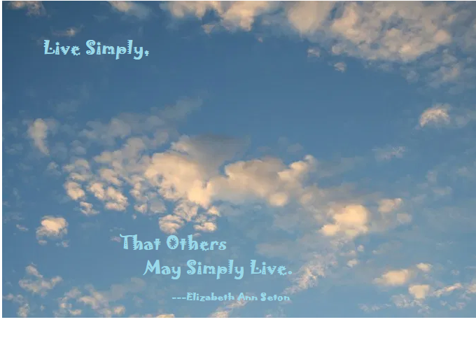 Live Simply Pic